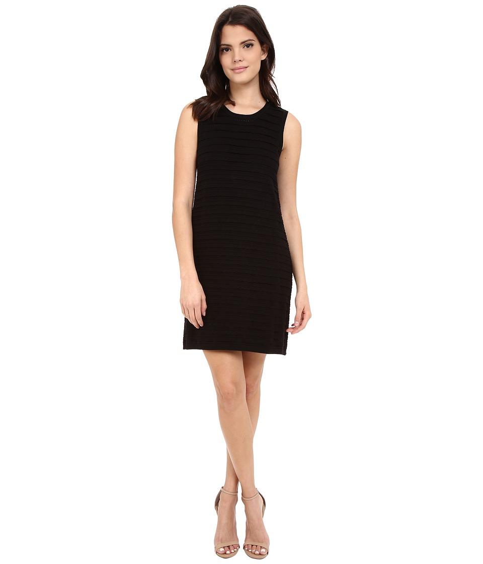 NIC+ZOE - Scalloped Shift Dress (Black Onyx) Women's Dress