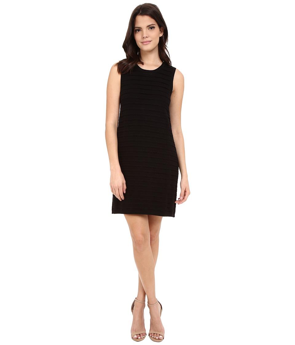 NIC+ZOE Scalloped Shift Dress (Black Onyx) Women