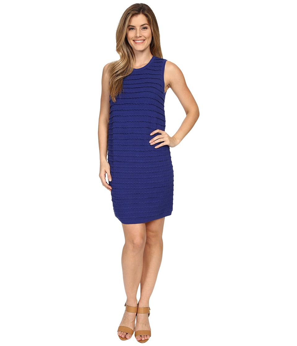 NIC+ZOE Scalloped Shift Dress (Blue Roma) Women