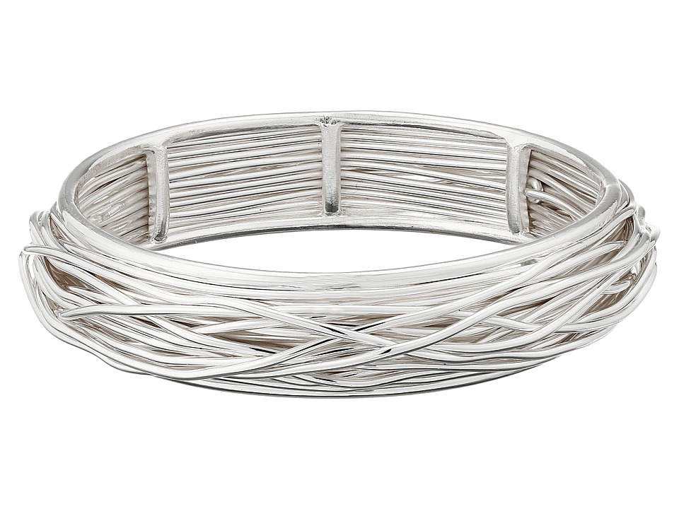 Robert Lee Morris - Shiny Silver Wire Wrap Bangle (Silver) Bracelet