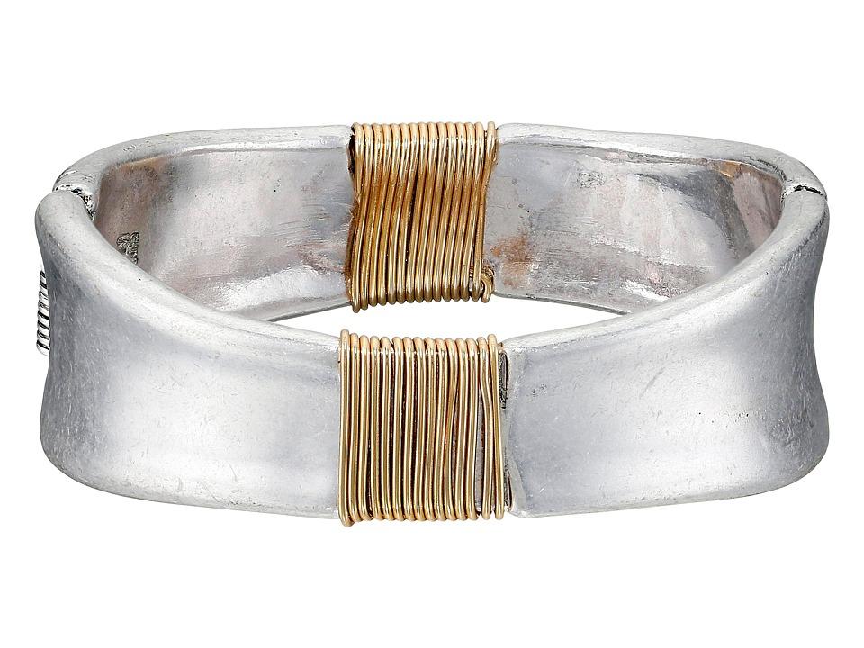 Robert Lee Morris - Two-Tone Wire Wrap Hinge Bangle (Two-Tone) Bracelet