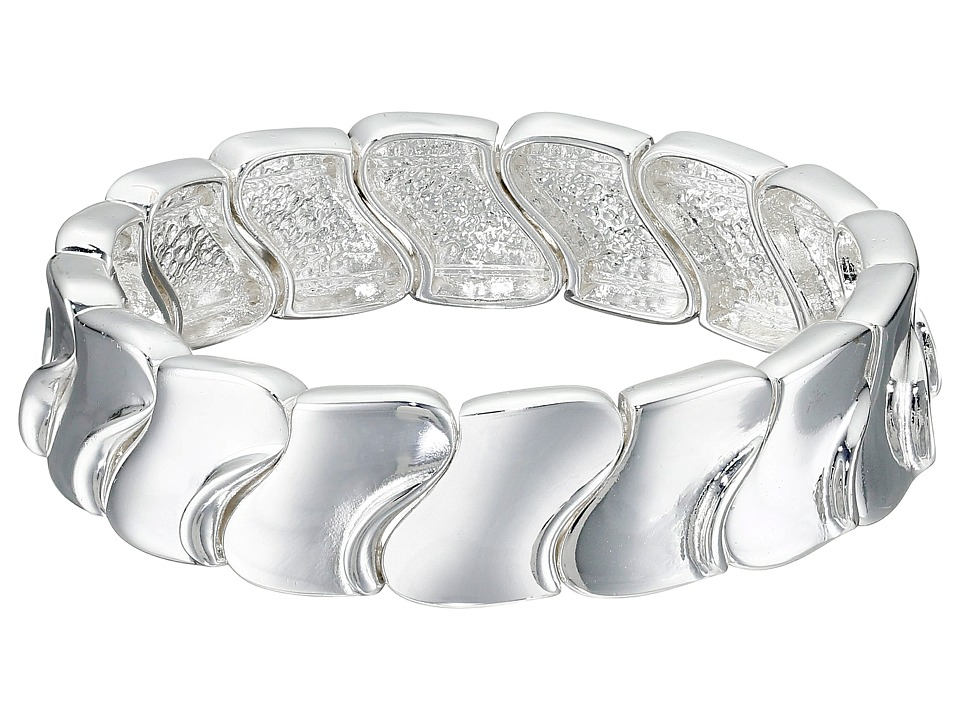 Robert Lee Morris - Shiny Silver Stretch Bracelet (Shiny Silver) Bracelet