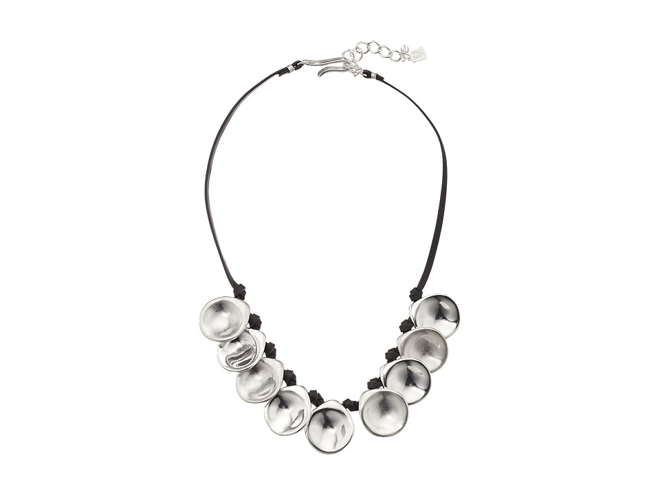 Robert Lee Morris - Silver Disc Frontal Necklace (Silver) Necklace