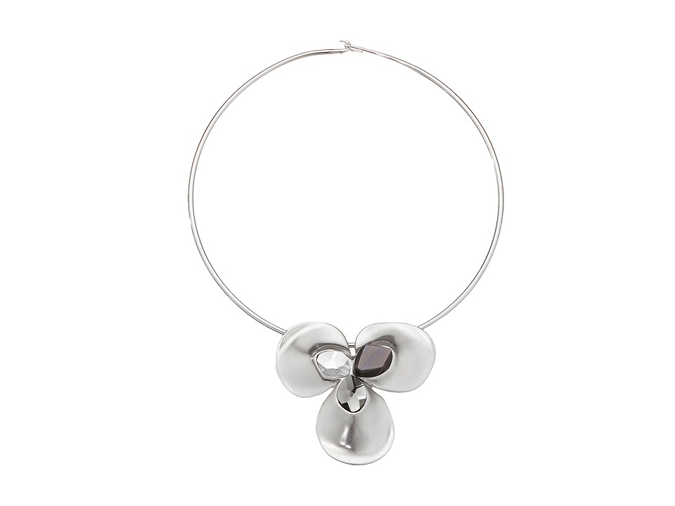 Robert Lee Morris - Grey Stone Round Wire Necklace (Grey) Necklace