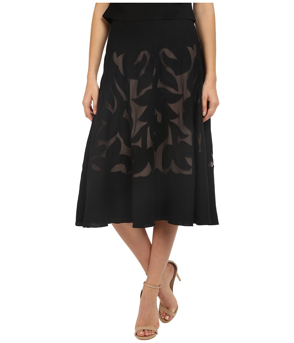NIC+ZOE - Secret Garden Skirt (Black Onyx) Women's Skirt