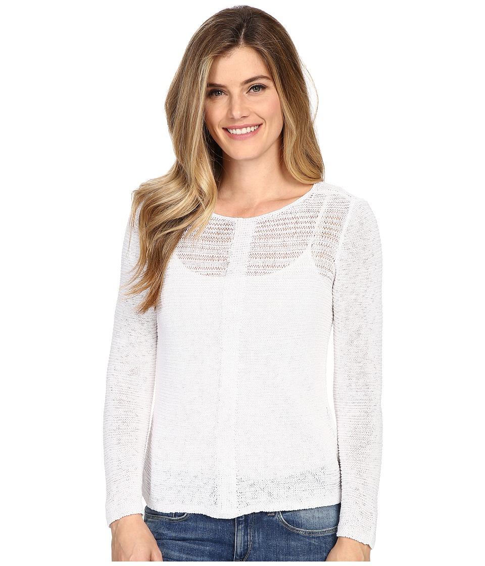 NIC+ZOE - Sheer Illusion Top (Paper White) Women's Clothing