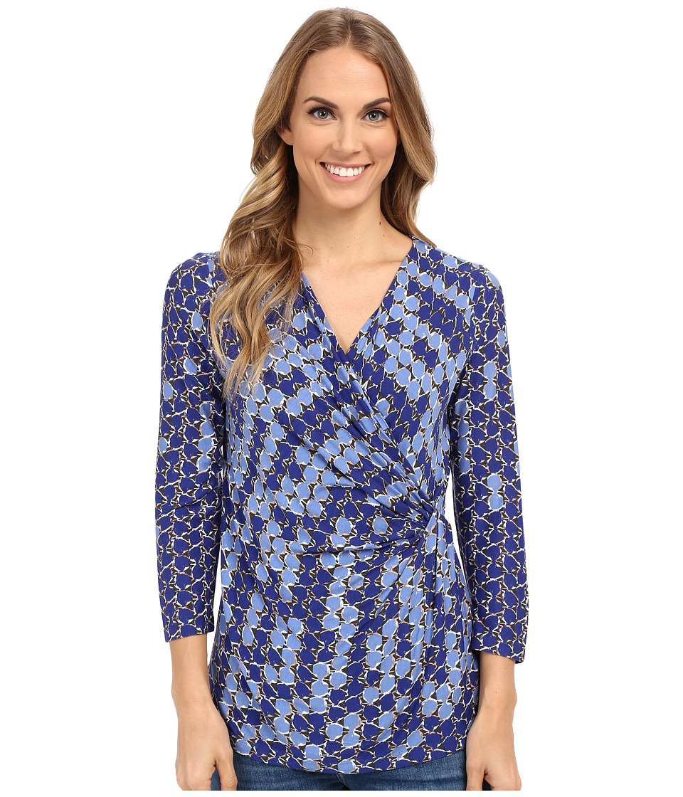 NIC+ZOE - Dotscape Wrap Top (Multi) Women's Clothing