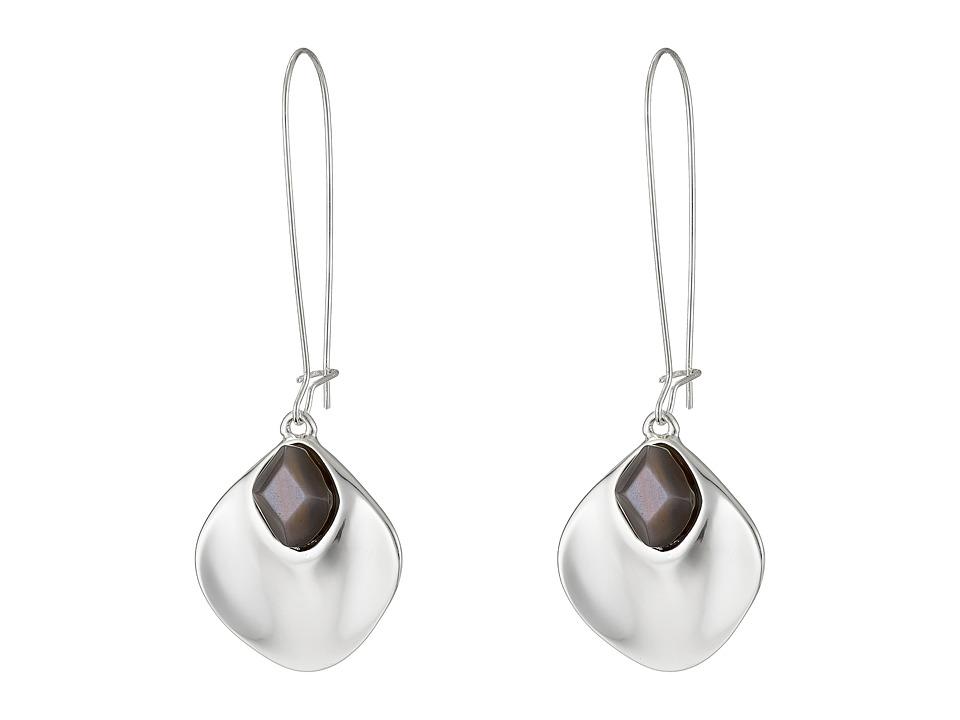 Robert Lee Morris - Grey and Silver Shepherd Hook Earrings (Grey) Earring