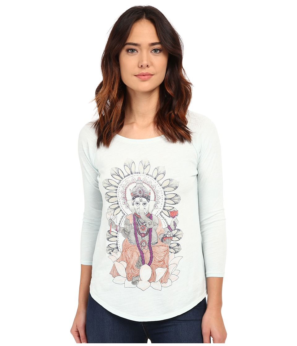 Lucky Brand - Elephant Ganesh Tee (Sterling Blue) Women's T Shirt