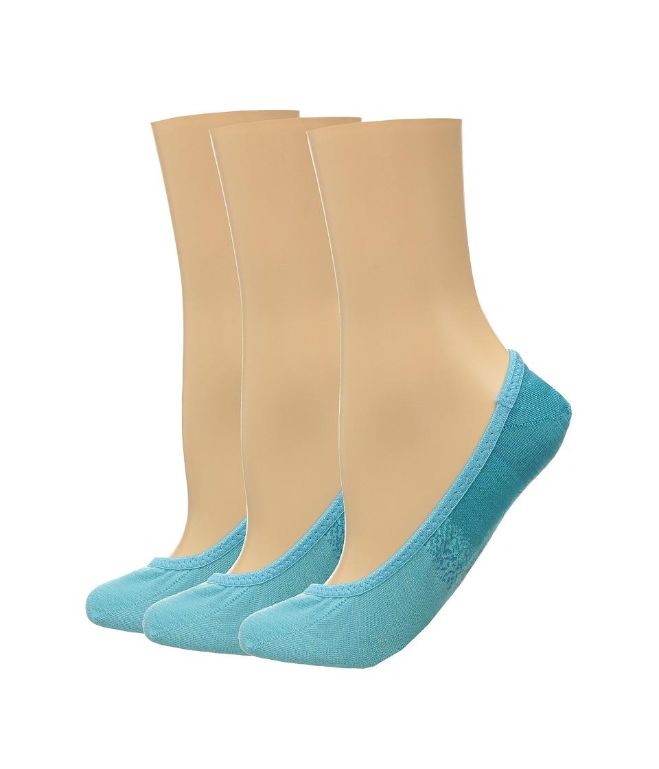 Smartwool - Ombre Surprise 3-Pack (Capri Blue Heather) Women's No Show Socks Shoes