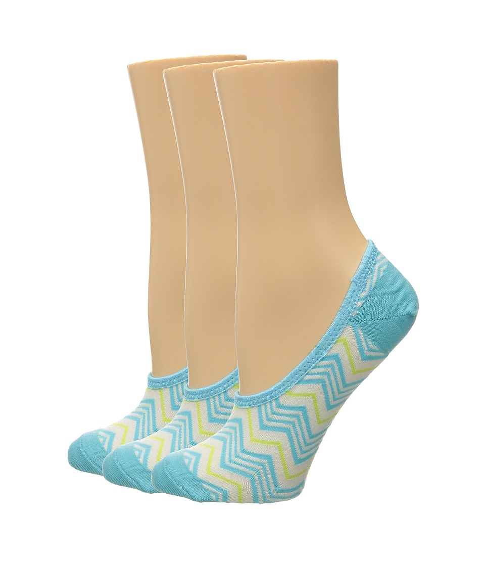 Smartwool - Chevron Hidden 3-Pack (Light Capri) Women's No Show Socks Shoes