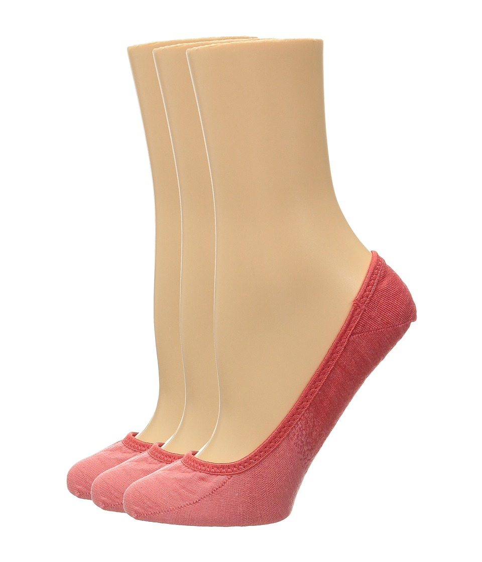Smartwool - Ombre Surprise 3-Pack (Hibiscus Heather) Women's No Show Socks Shoes