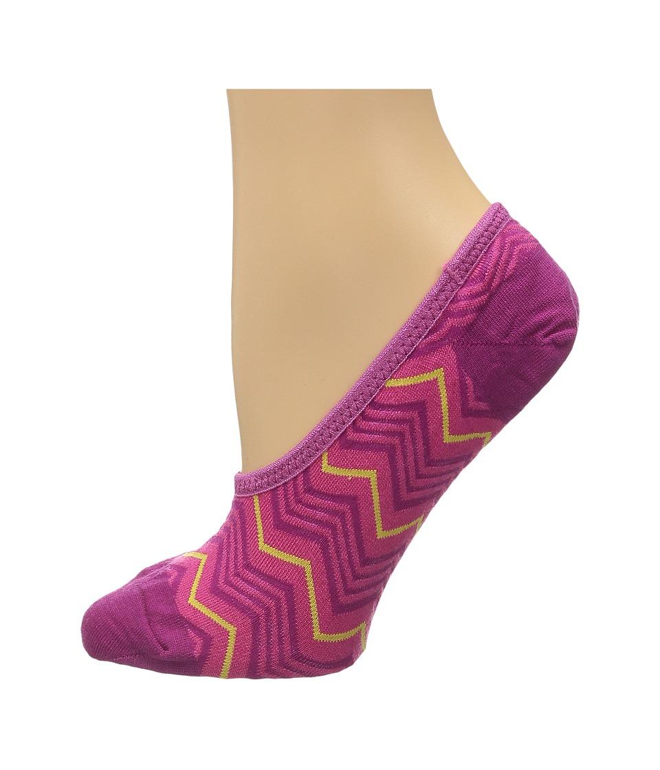 Smartwool - Chevron Hidden 3-Pack (Berry) Women's No Show Socks Shoes