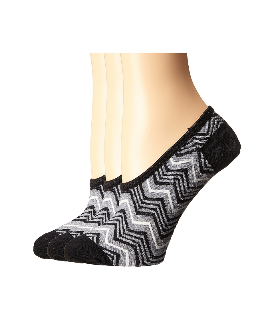 Smartwool - Chevron Hidden 3-Pack (Black) Women's No Show Socks Shoes