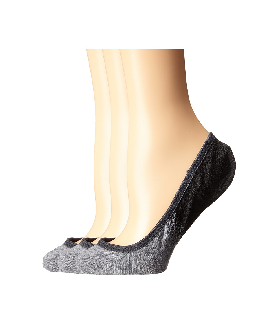 Smartwool - Ombre Surprise 3-Pack (Charcoal Heather) Women's No Show Socks Shoes