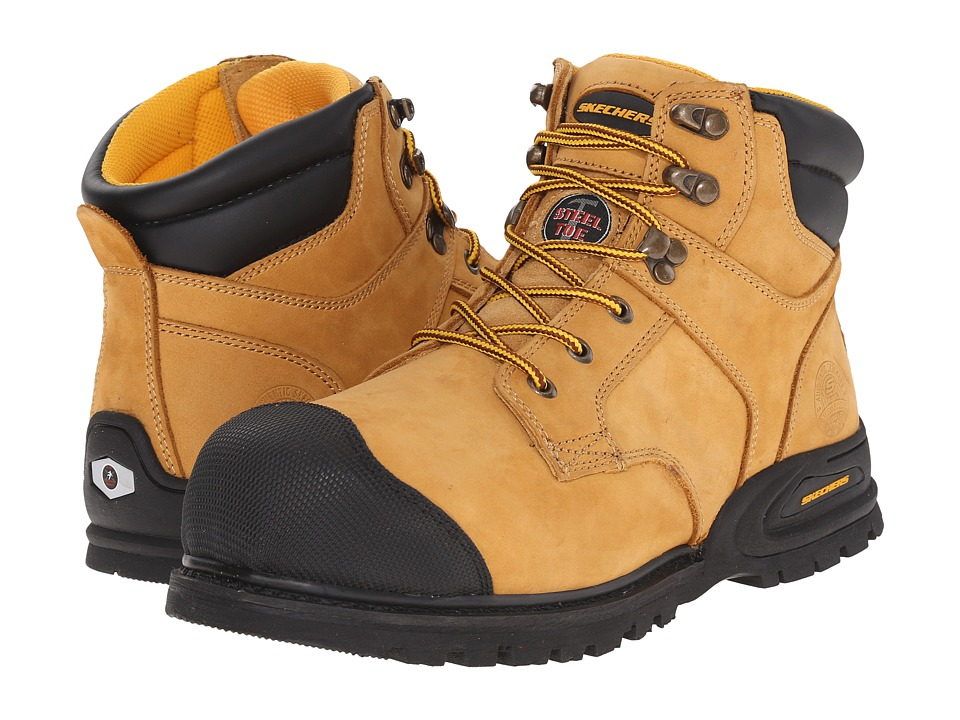 SKECHERS Work - Kenner (Wheat Nubuck) Men's Work Boots