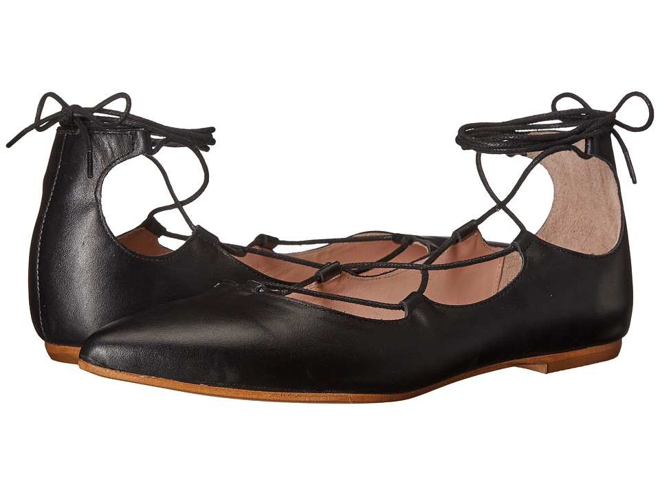 Summit by White Mountain - Karena (Black Leather) Women's Flat Shoes