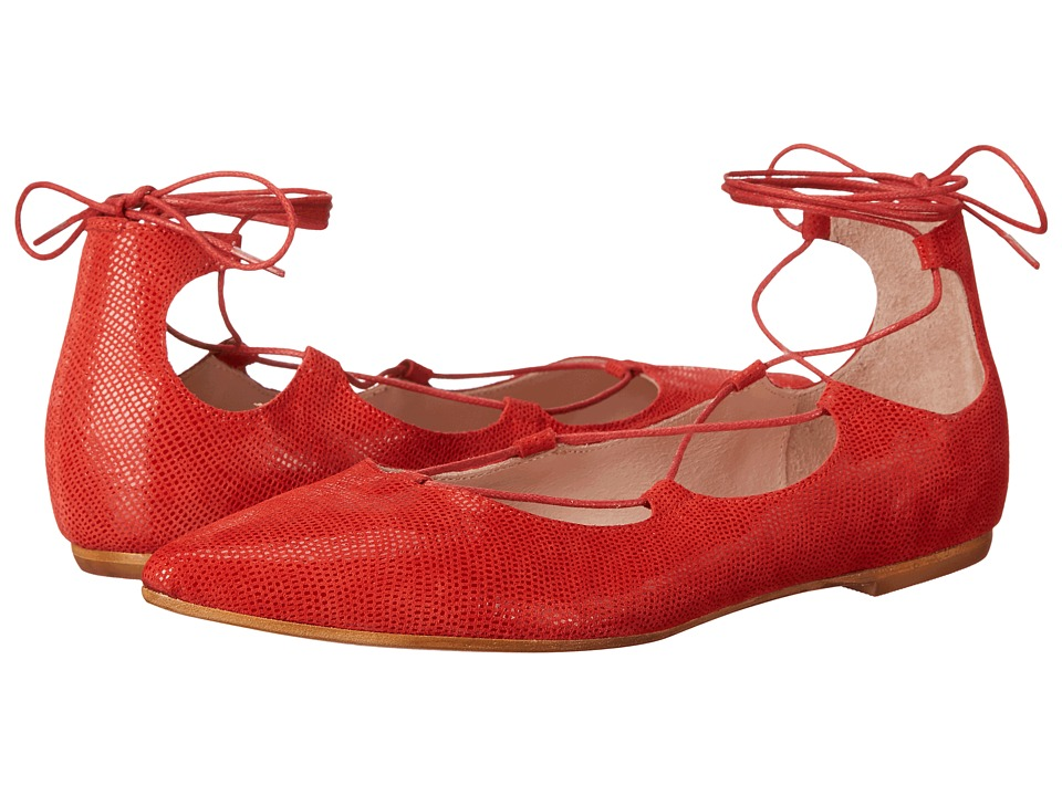 Summit White Mountain - Karena (Red Exotic Suede) Women's Flat Shoes