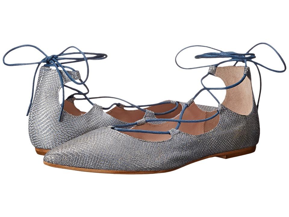 Summit by White Mountain - Karena (Light Blue Exotix Leather) Women's Flat Shoes