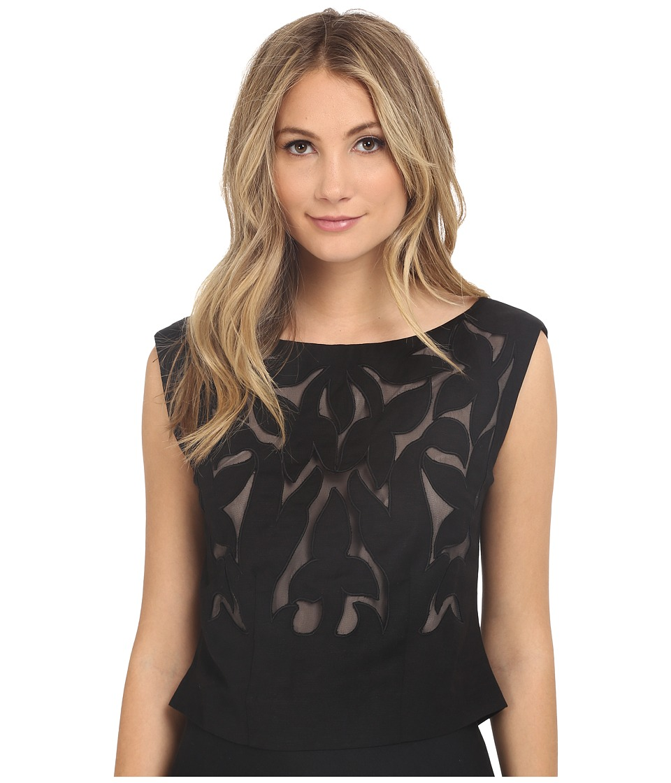 NIC+ZOE - Secret Garden Top (Black Onyx) Women's Clothing