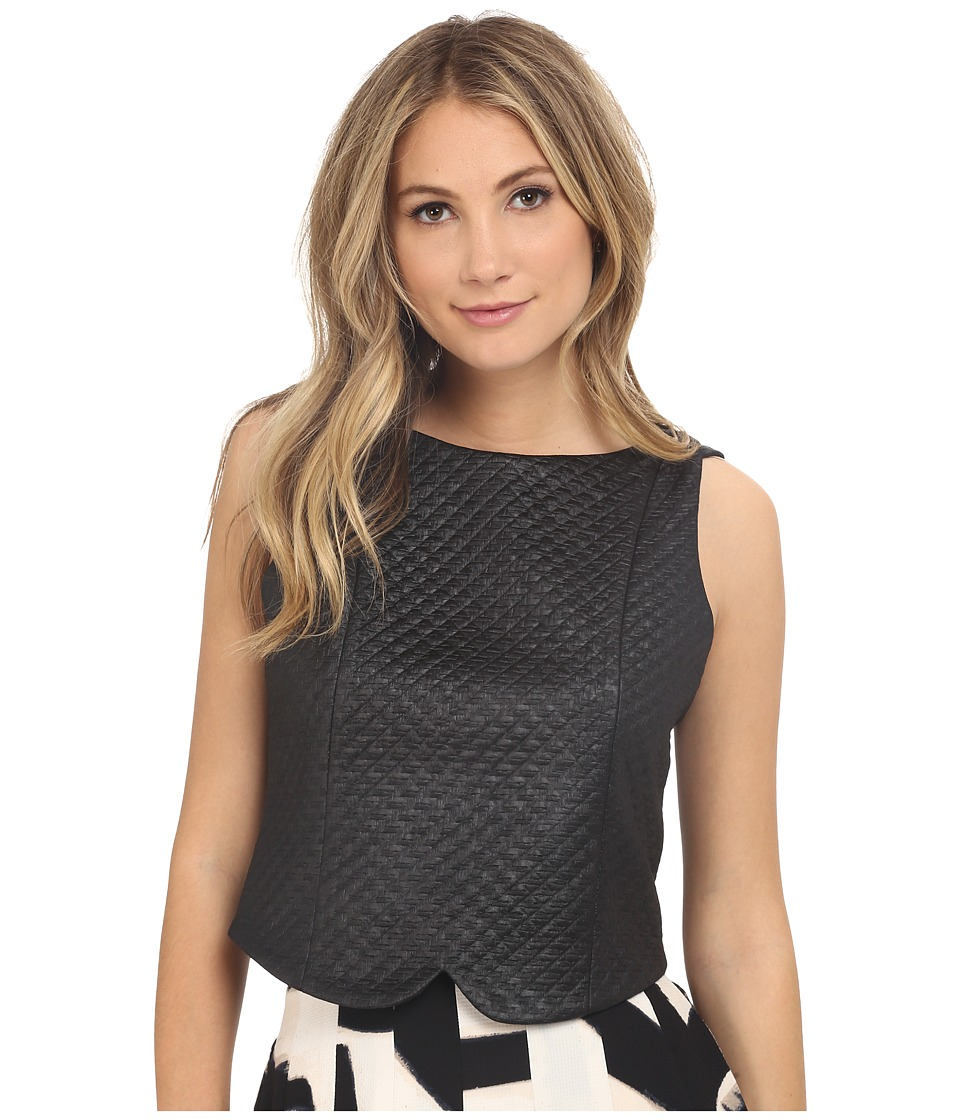 NIC+ZOE - Basket Weave Top (Black Onyx) Women's Clothing