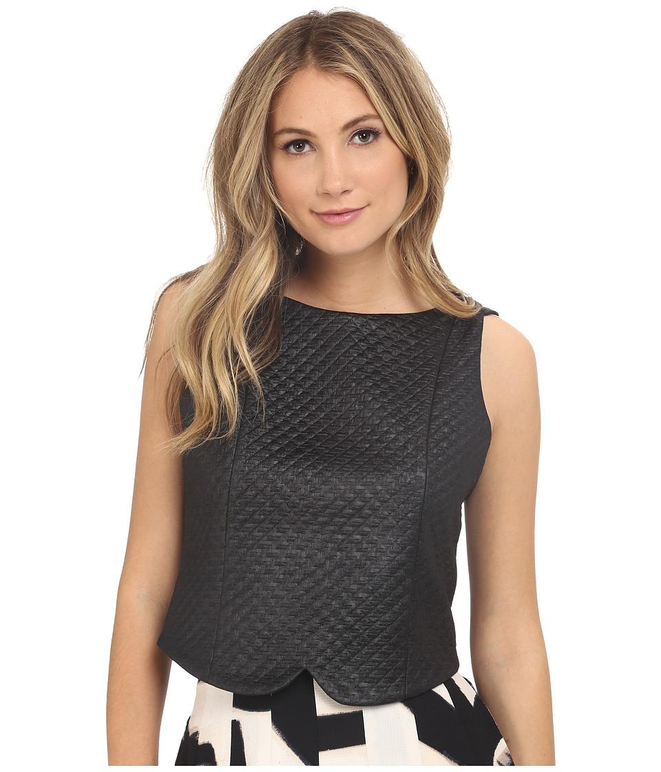 NIC+ZOE - Basket Weave Top (Black Onyx) Women's Clothing