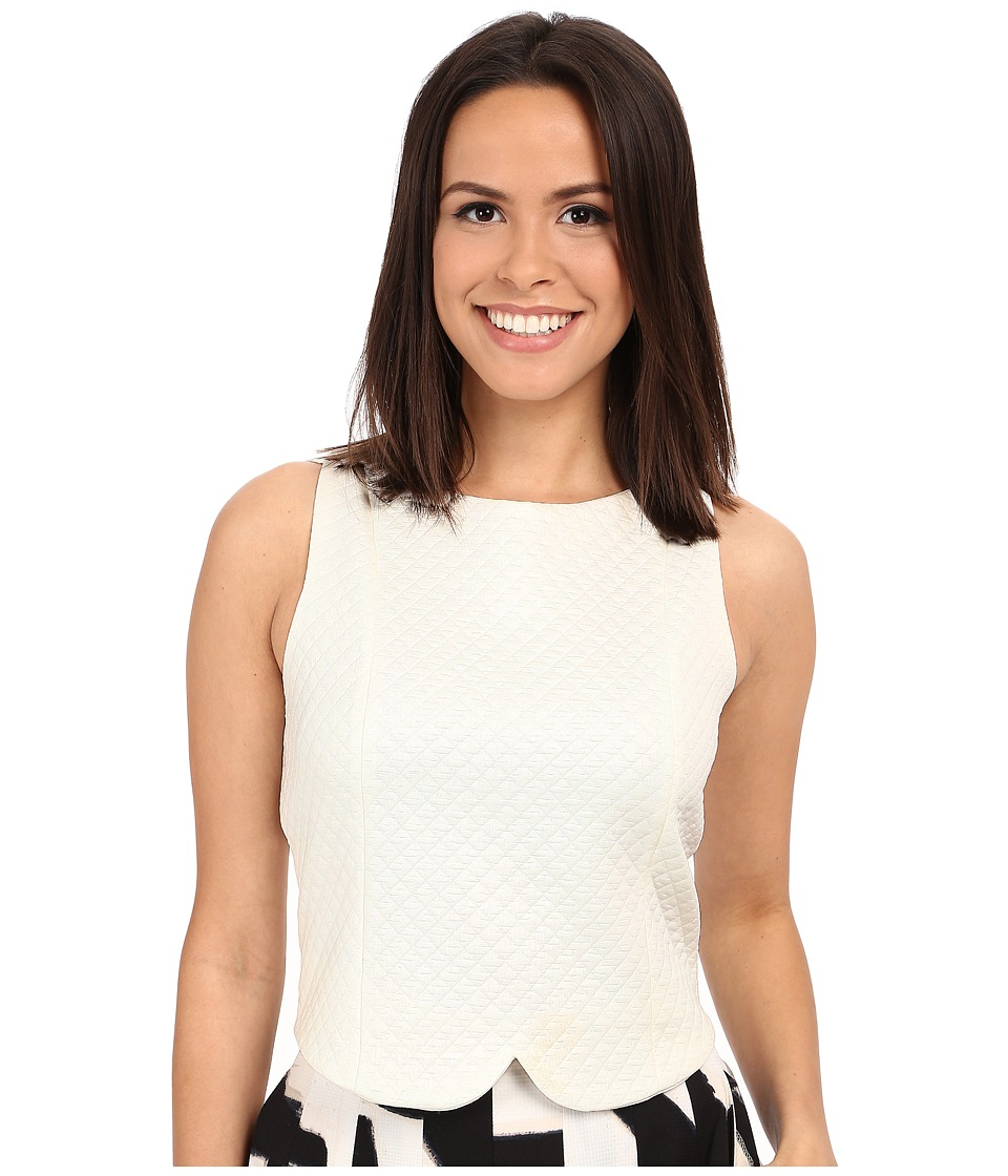NIC+ZOE - Basket Weave Top (Milk White) Women's Clothing