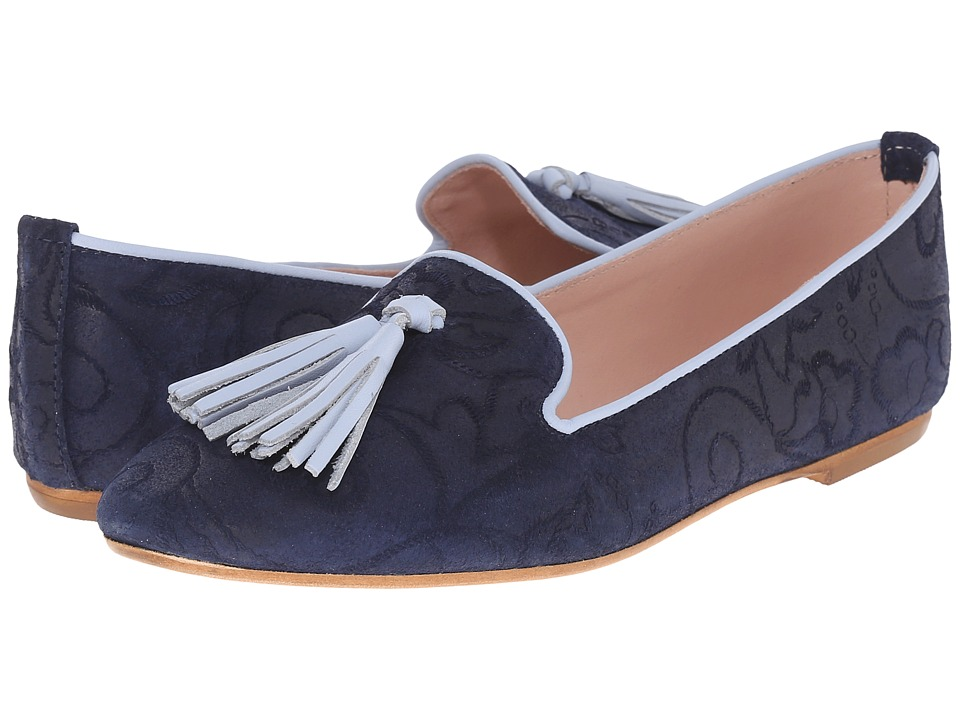 Summit White Mountain - Coleen (Blue Multi Suede) Women's Flat Shoes