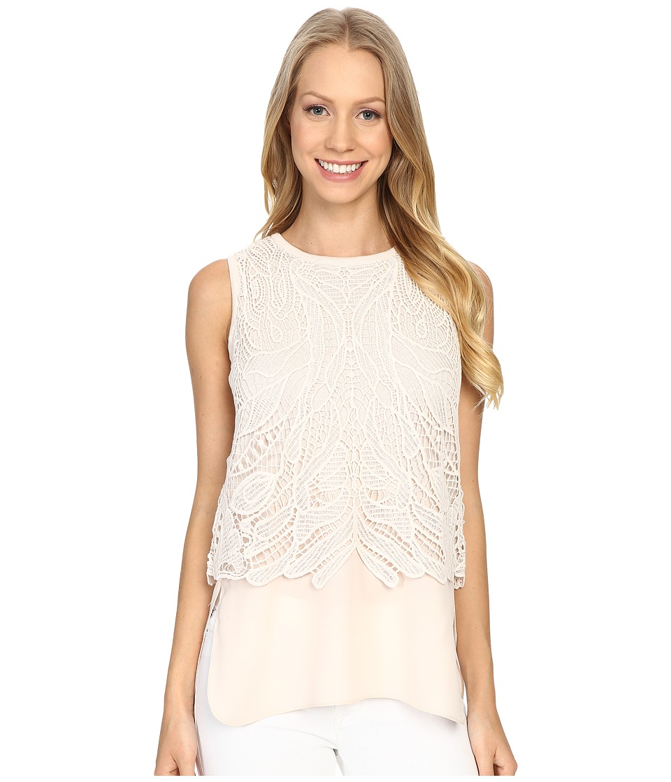 NIC+ZOE - Lovely Lace Top (Pink Pearl) Women's Clothing