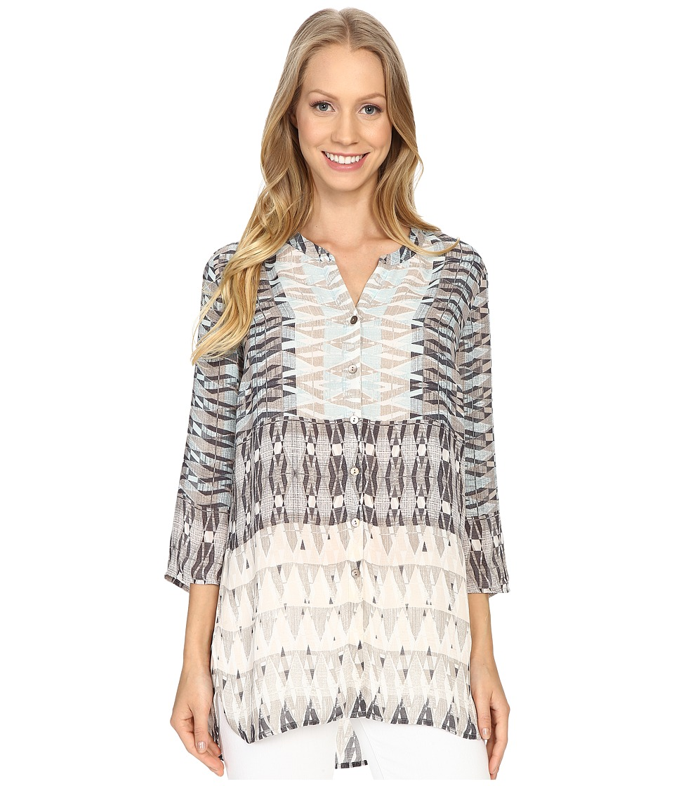 NIC+ZOE - Mosaic Top (Multi) Women's Clothing