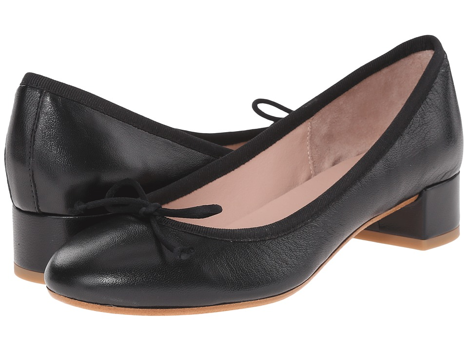Summit by White Mountain - Mariela (Black Leather) Women's 1-2 inch heel Shoes