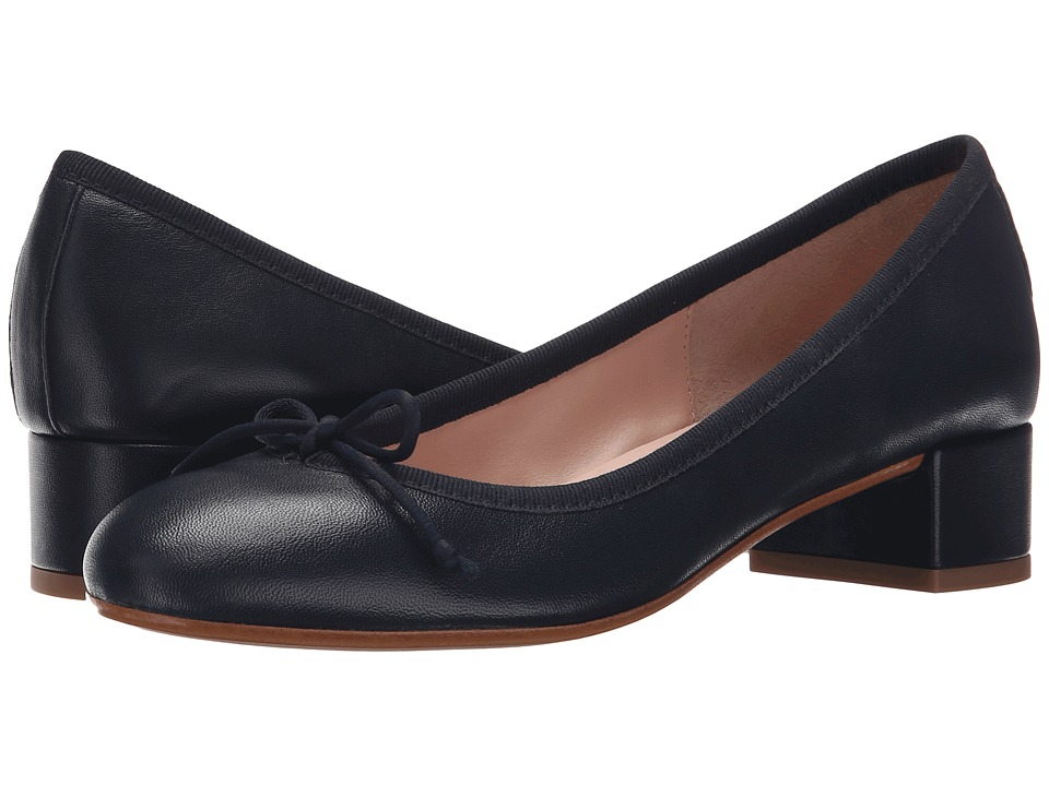 Summit by White Mountain - Mariela (Navy Blue Leahter) Women's 1-2 inch heel Shoes