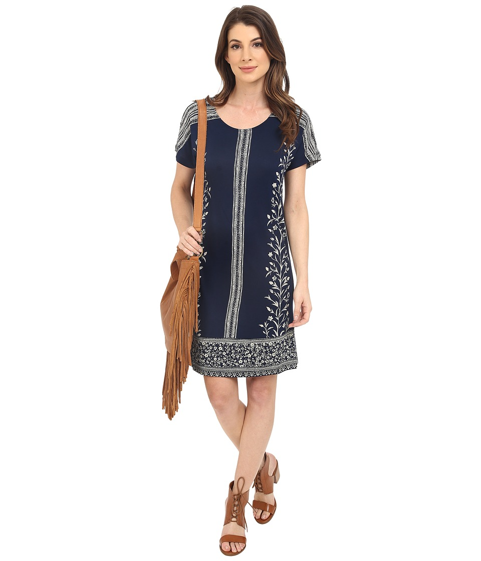 Lucky Brand - Bordered T-Shirt Dress (Navy Multi) Women's Dress