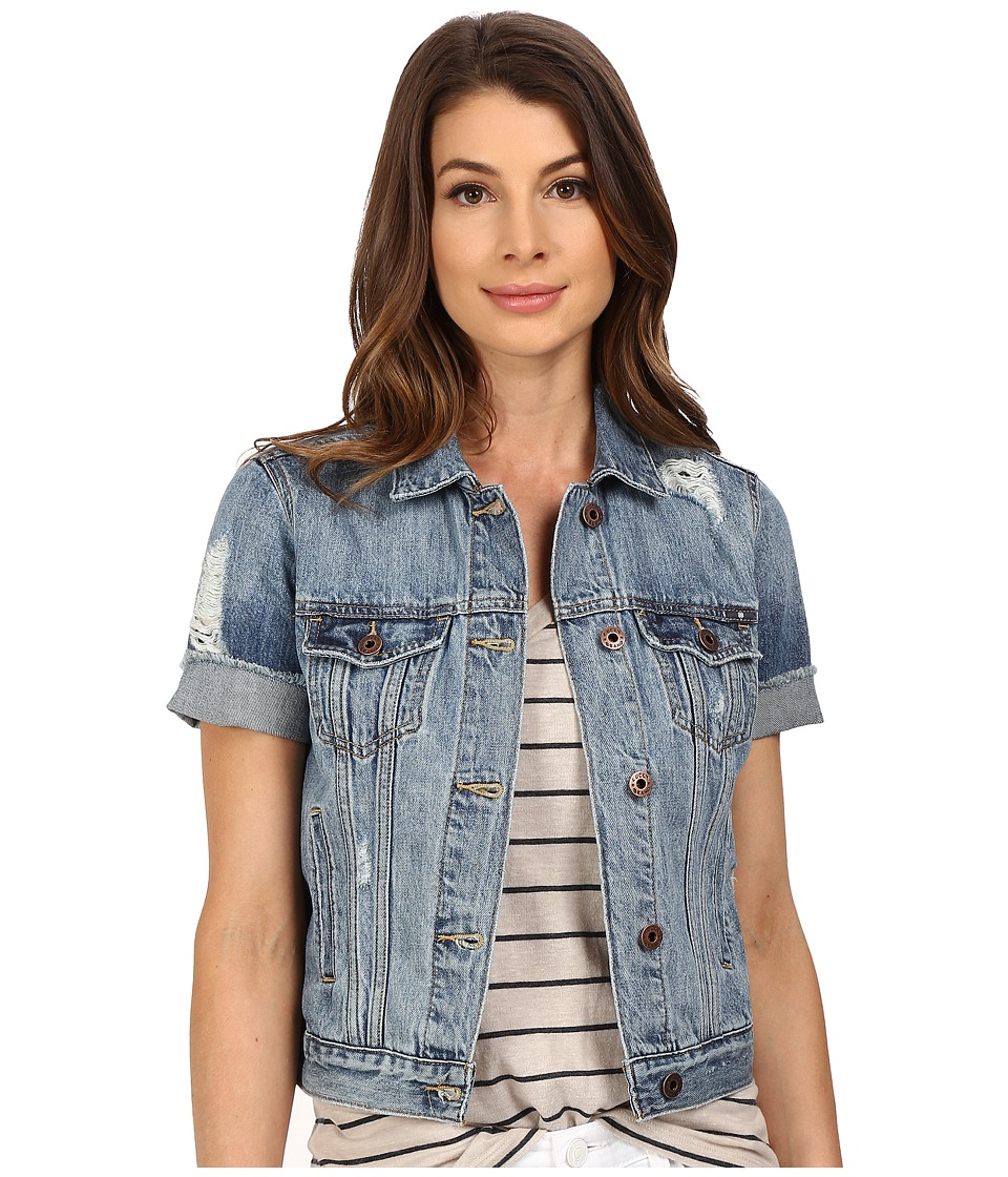Lucky Brand - Short Sleeve Denim Trucker (Brighton) Women's Coat