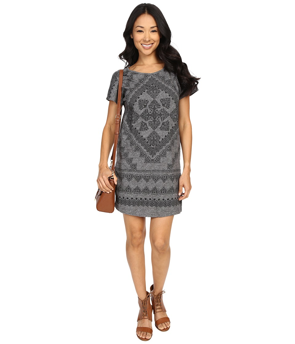 Lucky Brand - Placed Bandana T-Shirt Dress (Black Multi) Women's Dress