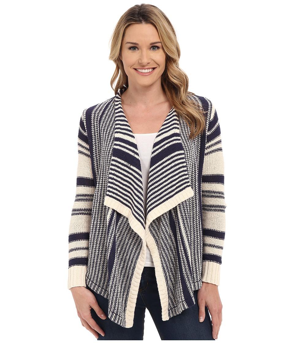Lucky Brand - Stripe Ballerina Sweater (Blue Multi) Women's Sweater