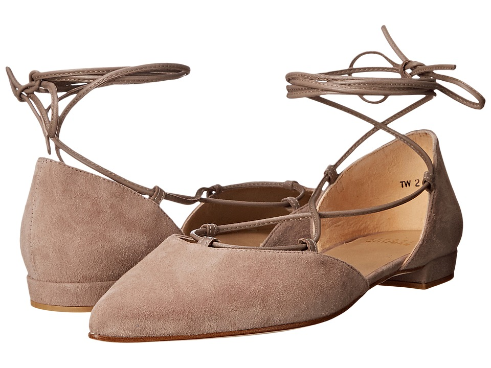 Stuart Weitzman Gilligan Haze Suede Womens Dress Flat Shoes