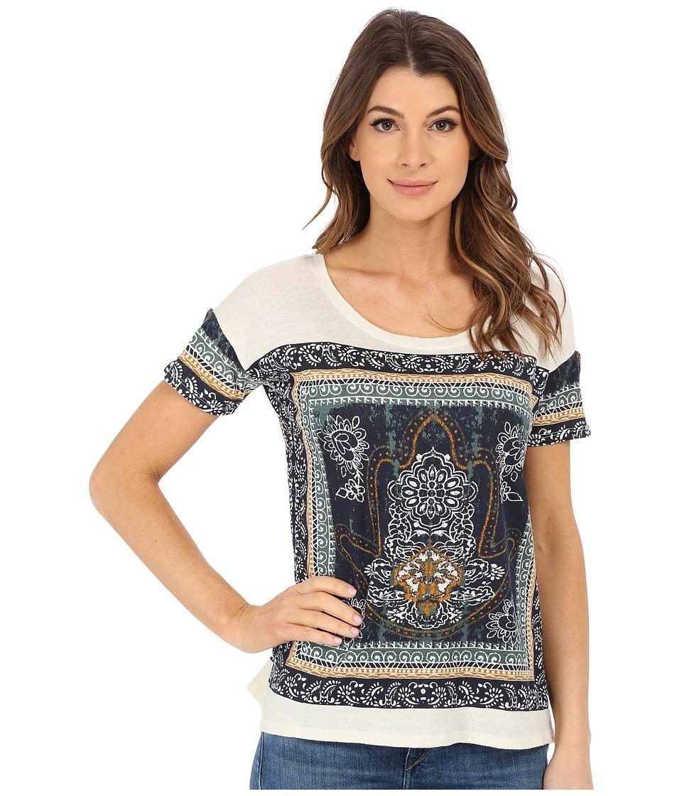 Lucky Brand - Border Hamsa Hand Tee (Navy Multi) Women's T Shirt