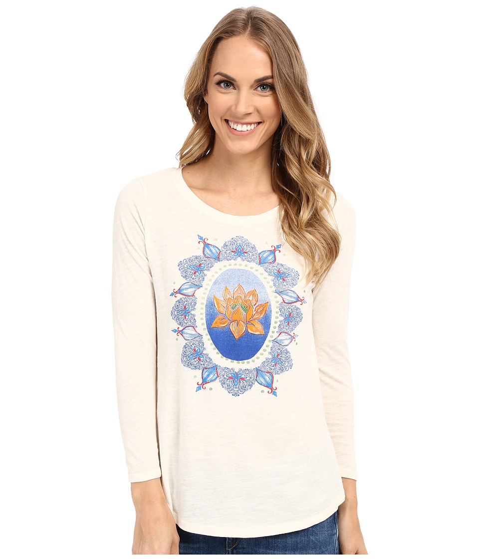 Lucky Brand Multicolor Lotus Tee (Whisper White) Women