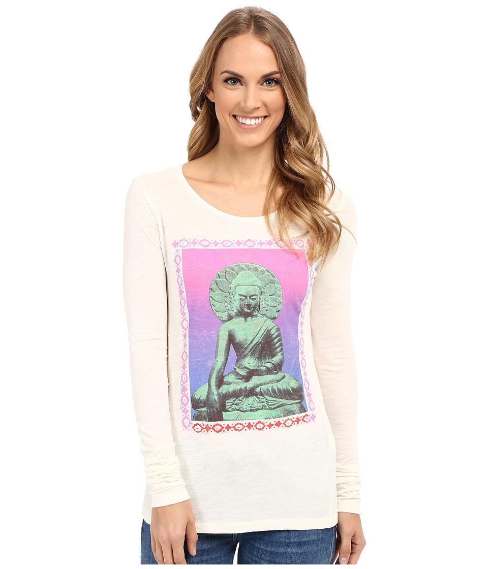 Lucky Brand - Buddah Tee (Marshmallow) Women's Long Sleeve Pullover