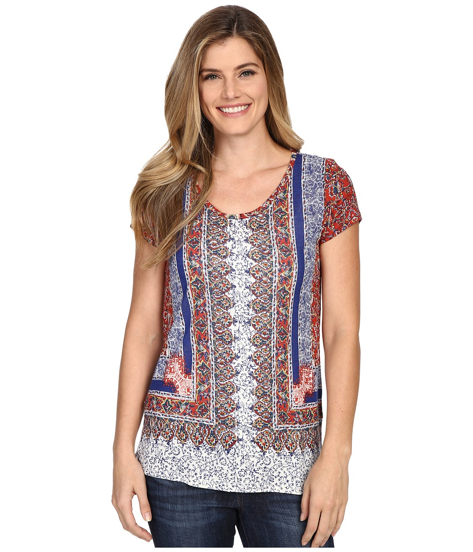 Lucky Brand - Scarf Print Tee (Multi) Women's T Shirt