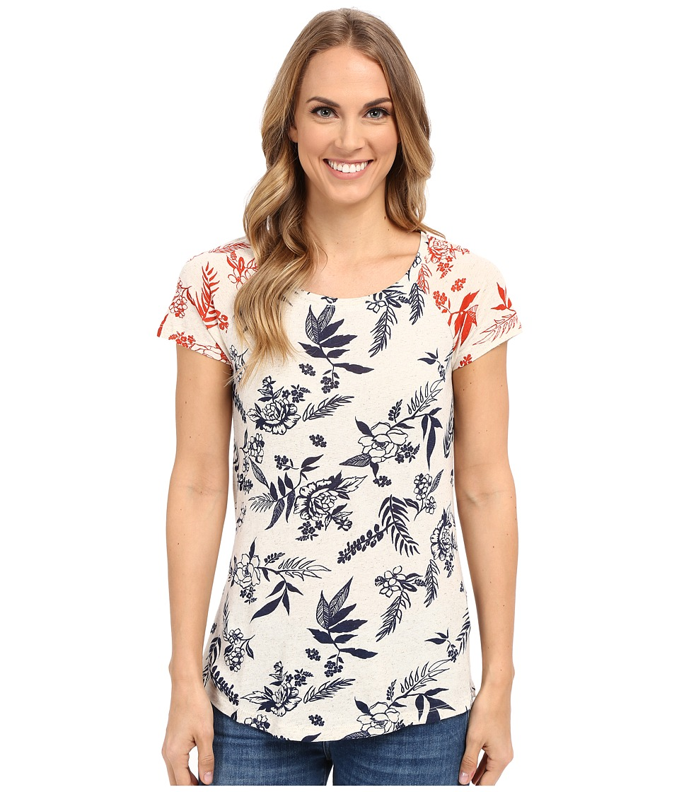 Lucky Brand - Stamped Floral Tee (Natural) Women