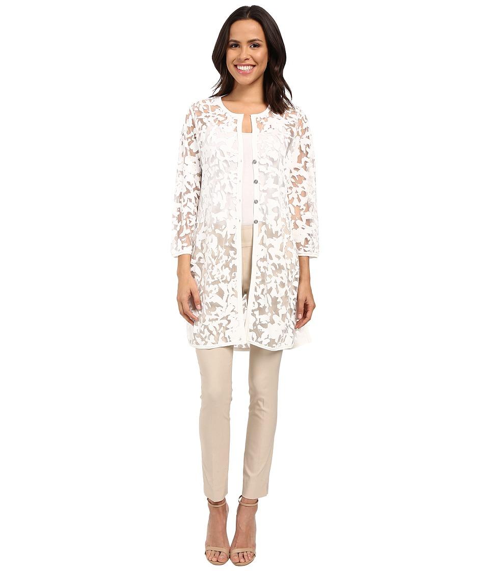 NIC+ZOE - Glazed Mesh Jacket (Milk White) Women's Blouse