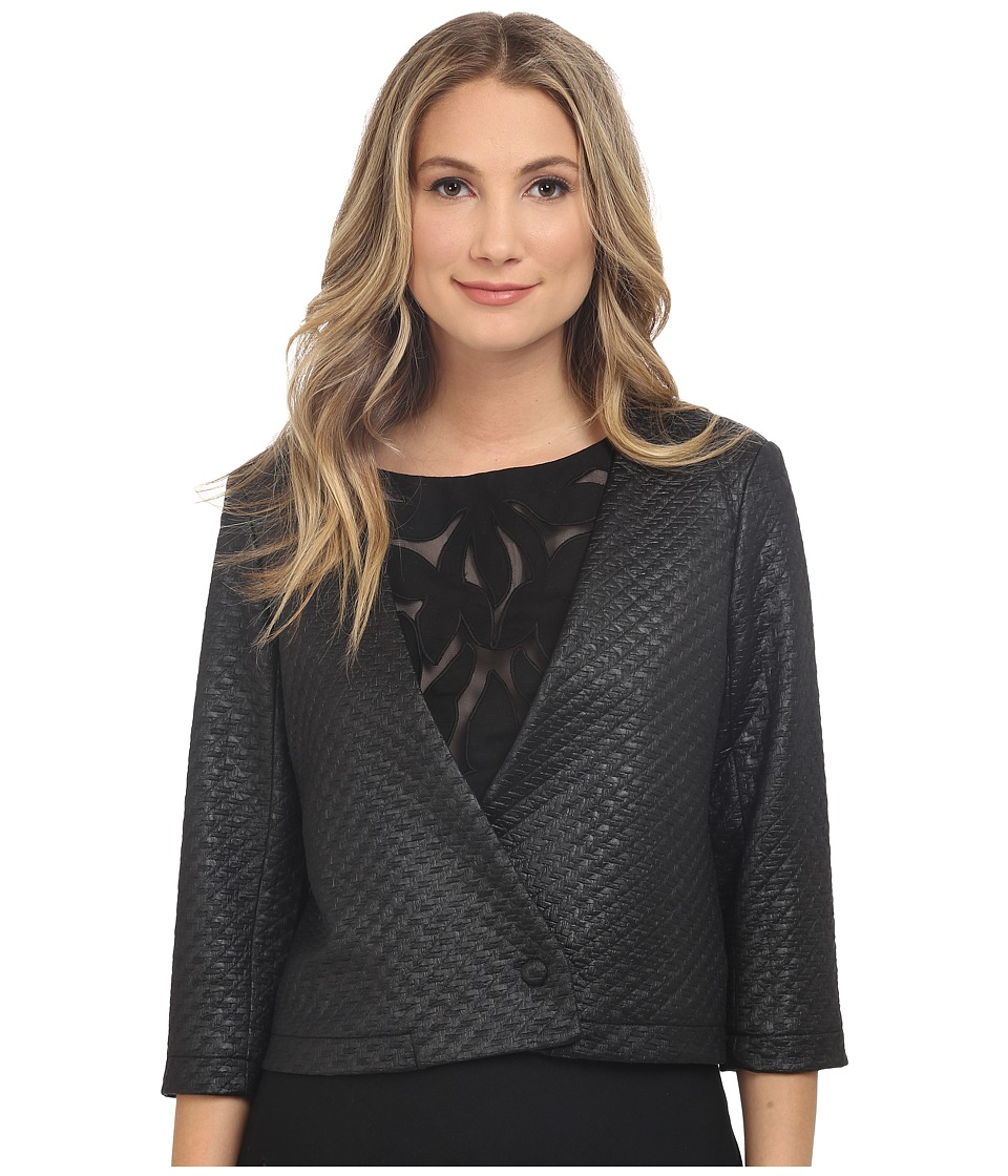 NIC+ZOE - Basket Weave Jacket (Black Onyx) Women's Coat