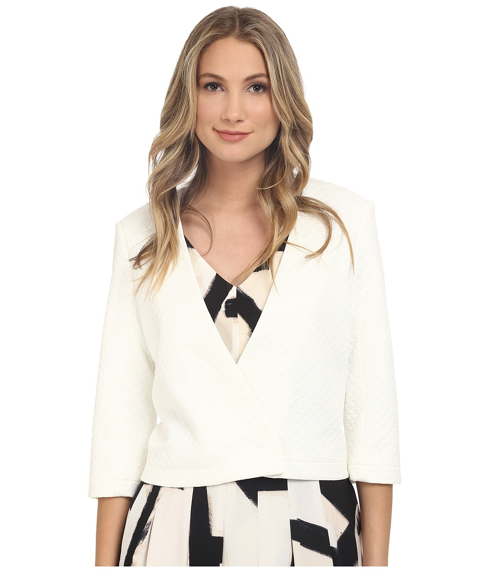 NIC+ZOE - Basket Weave Jacket (Milk White) Women's Coat