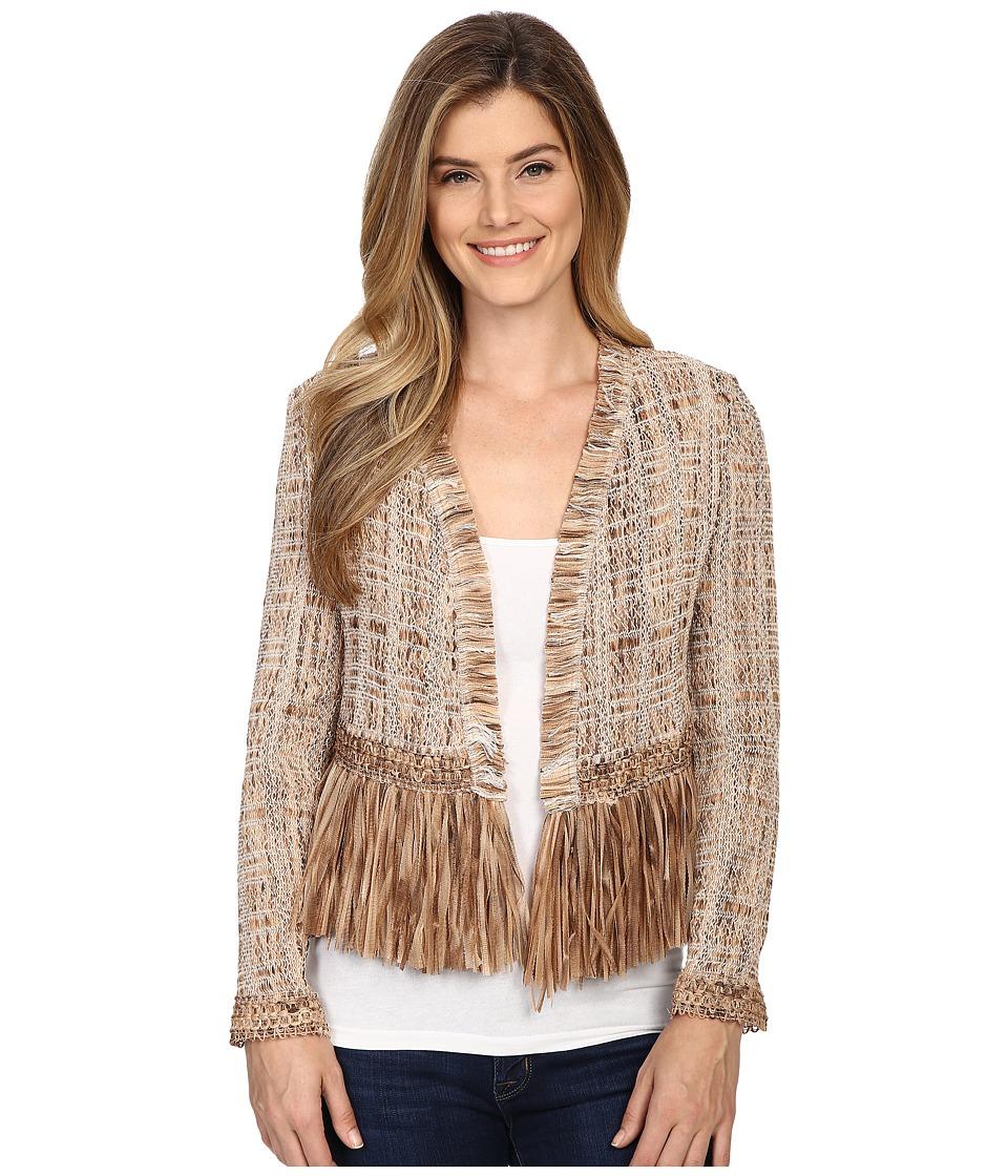 NIC+ZOE - Cork Fringe Jacket (Multi) Women's Coat