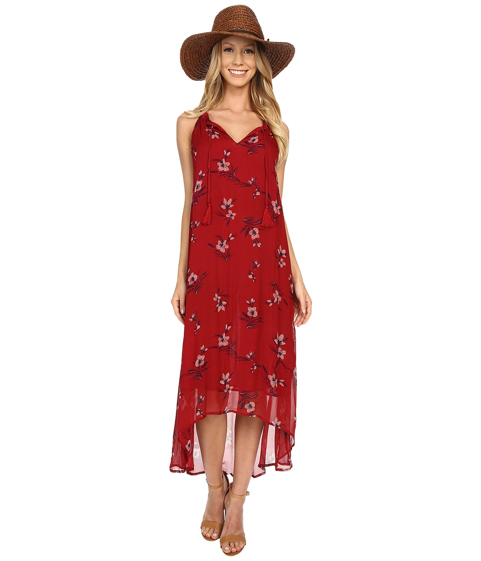 Lucky Brand - Floral Dress (Red Multi) Women's Dress
