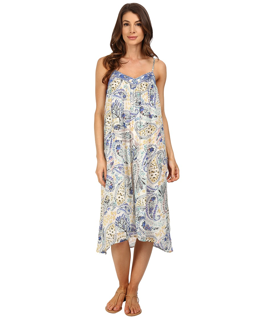 Lucky Brand - Paisley Garden Dress (Natural Multi) Women's Dress