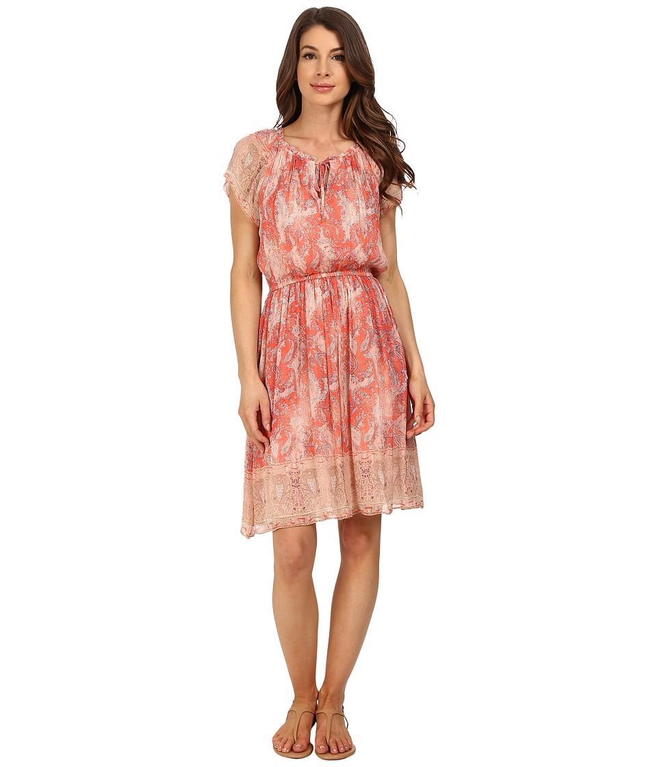 Lucky Brand Paisley Haze Dress (Pink Multi) Women