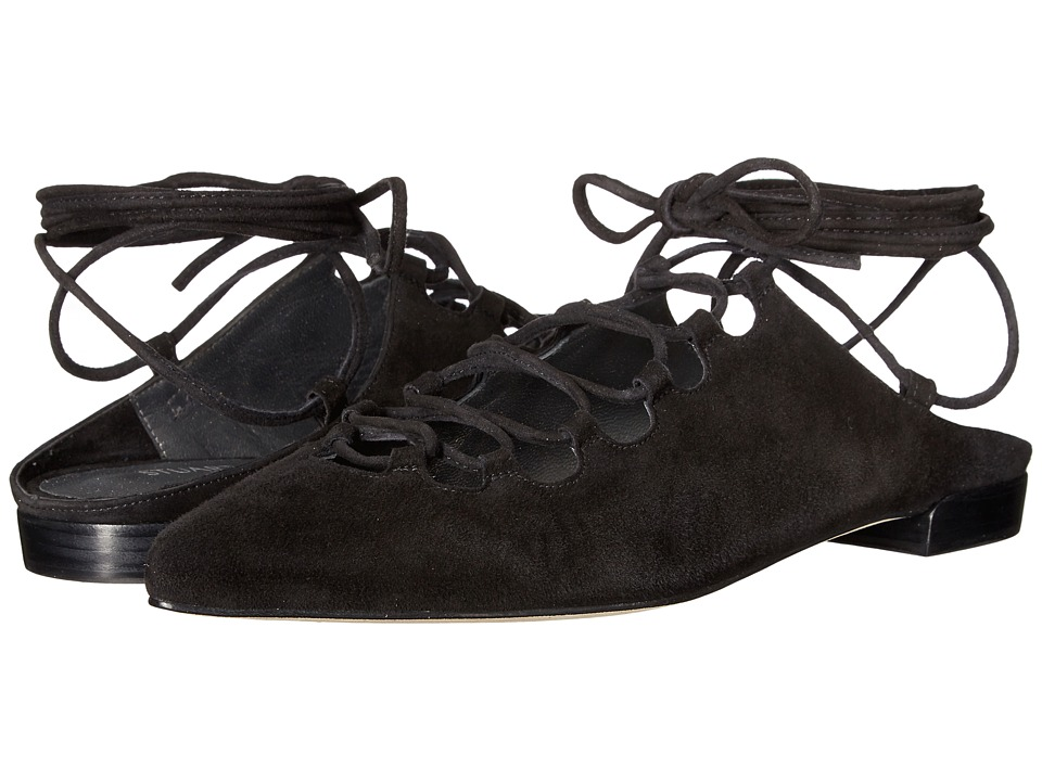 Stuart Weitzman - Stringdown (Black Suede) Women's Shoes